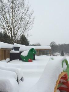 myyye snø og det snør enda ...