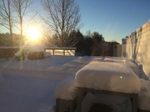 morgenstemning utenfor!