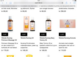 Weledas produkter til den gravide/ammende. Prøvd?
