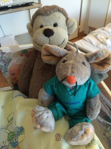 Rasmus er bamsen alle barn får etter narkose/operasjon på Rikshospitalet