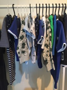 Mye klær til guttene