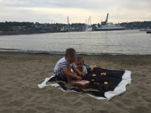 En tiiidlig morgen på stranden ☀️