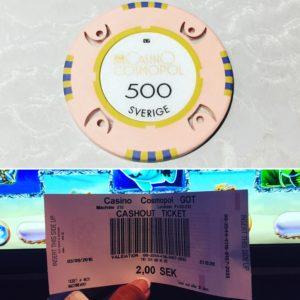 Jeg vant!! 2 svenske kroner ...