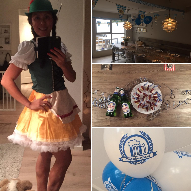 Oktoberfest anledning min bursdag - kostyme kjøpt hos Partyking!