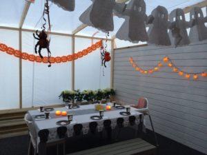 Pyntet til Halloween fest ifjor 🎃