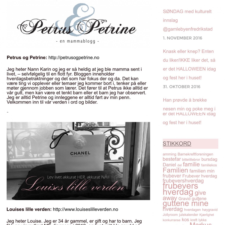 Petrus og Petrine og Louise lille verden