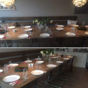 Heldigvis har vi stort (hjemmelaget) spisestuebord 🍴