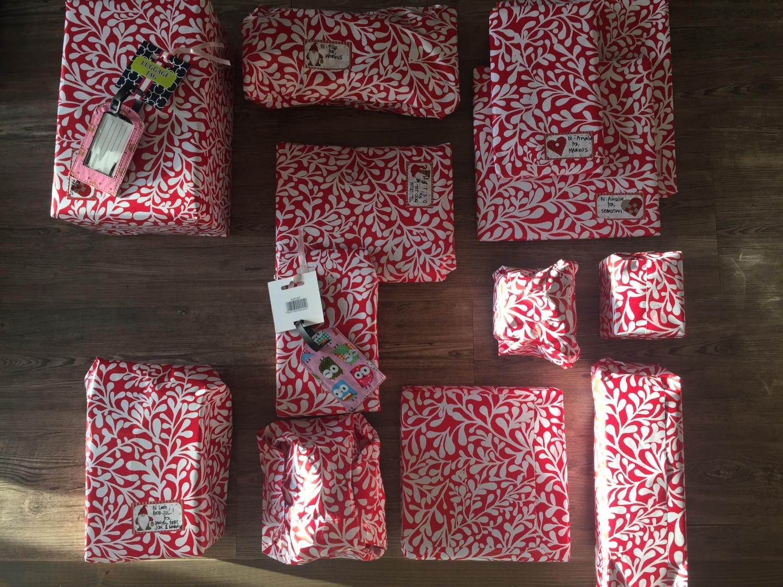julepakker med lys