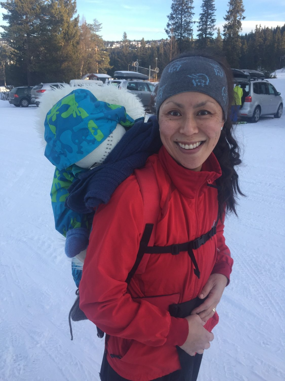 Mamma og Markus (11mnd) på skitur 🎿