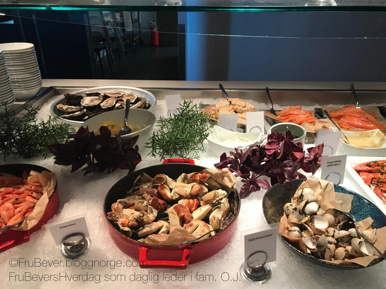Sjømat, skalldyr, fisk, reker, østers, hummer