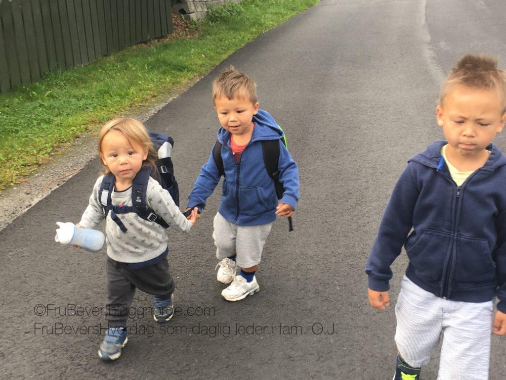 Frubevershverdag skole barnehagestart brødre