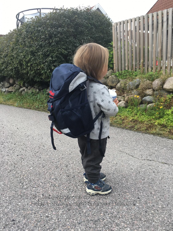 Første ordentlig dag i barnehagen #innkjøring Bergans sekk