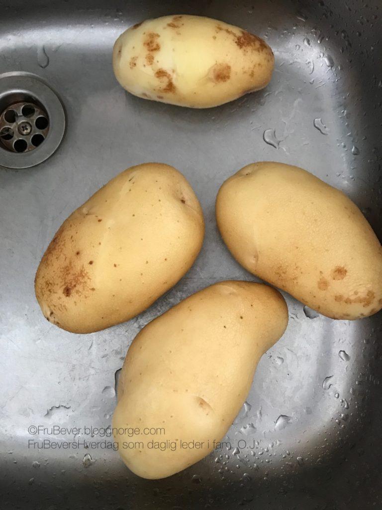 Hjemmedyrkede poteter økologisk kortreist frukthage grønnsakshage