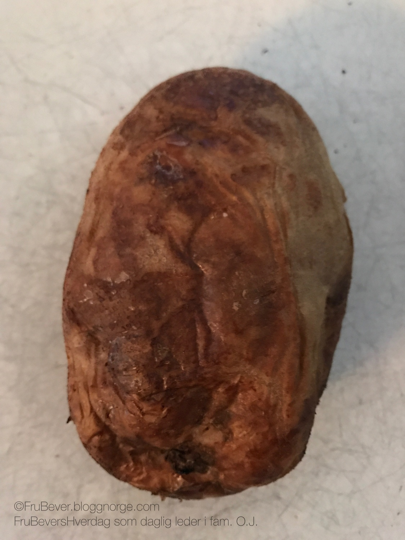 Bakt potet hjemmedyrkede, økologisk kortreist