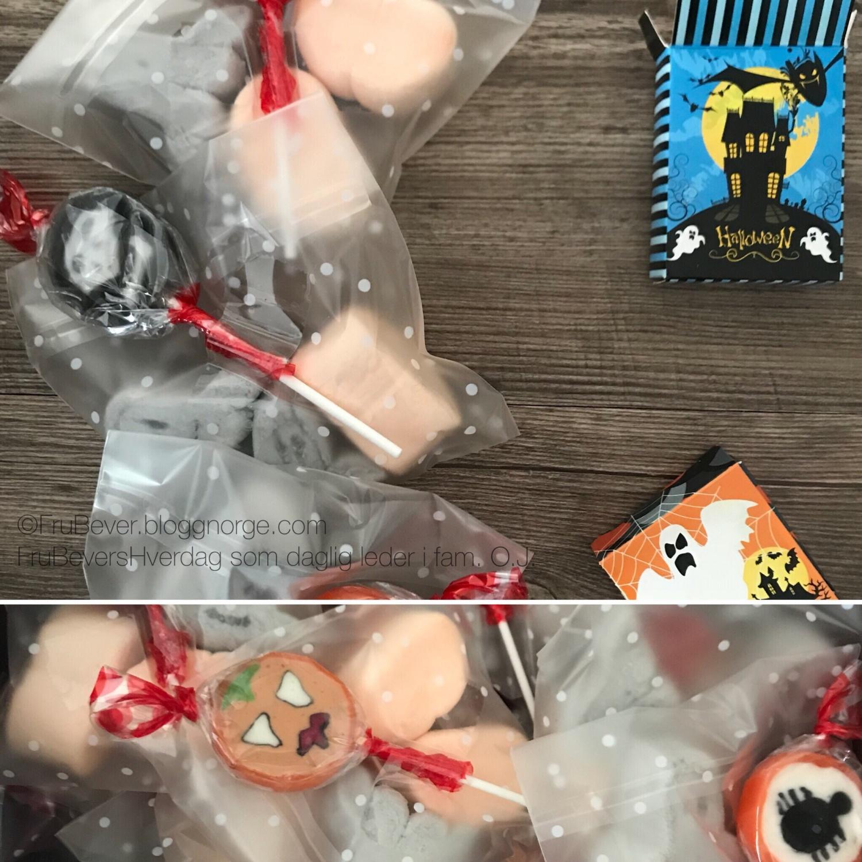 Halloween - godteriet er klart! Ferdigpakket så klart!