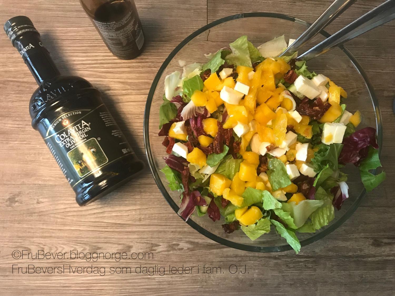 Frubevershverdag ingen salat uten en god olivenolje og balsamico dressing!