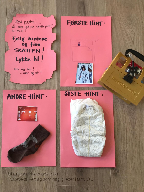 Skattejakt // Frubevershverdag aktivitet med barn tips DIY