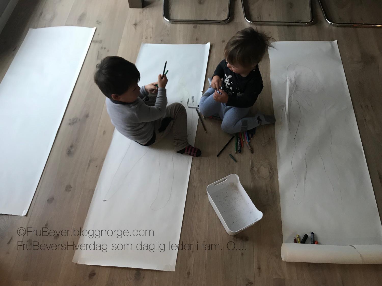 Vi tegnet alle guttene // DIY kreativ dag!