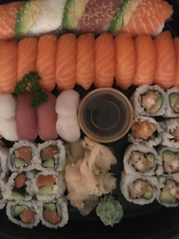 Sushi er aldri feil!