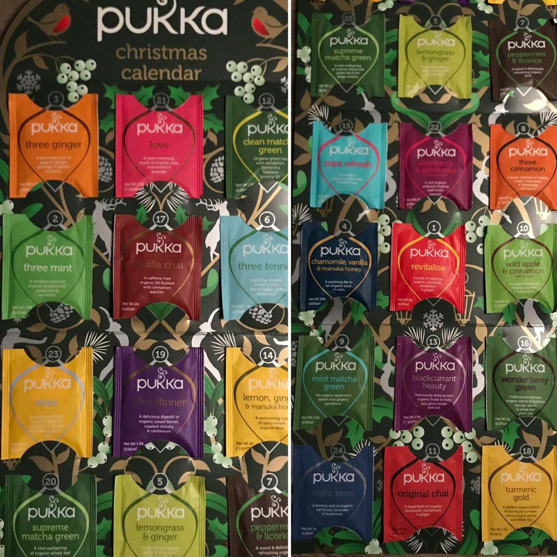 Pukka te-kalender fås kjøpt bl.a. hos Jordbærpikene!