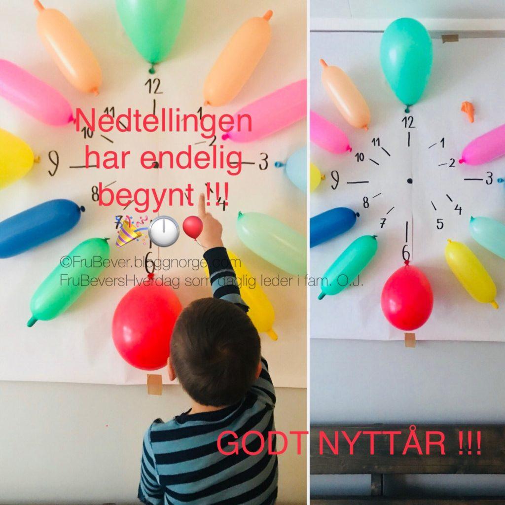 Nedtellingen har begynt // nyttårsaften DIY med barn Frubevershverdag