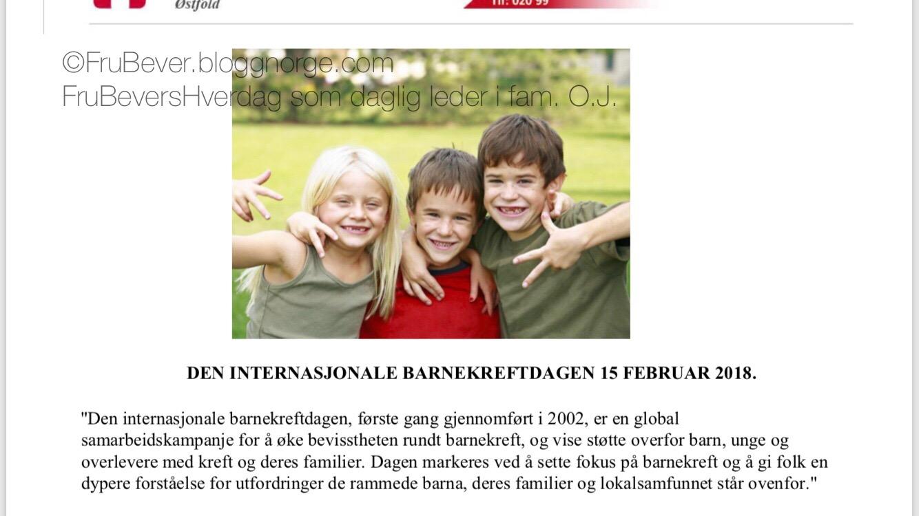 Markus FrubeversHverdag // Nevroblastom BARNEKREFT den internasjonale barnekreftdagen