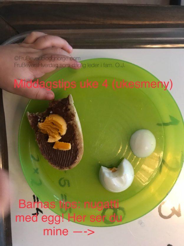 Middagstips uke 4 ukesmeny for kresne barn FruBeversHverdag
