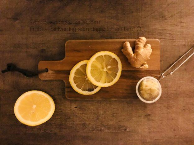 Ingefær, sitron og honning kjerringråd mot hoste // Frubevershverdag