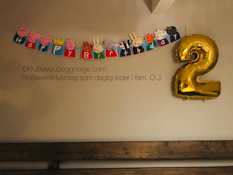 FruBeversHverdag fødedag // tema bursdag Markus 2 år