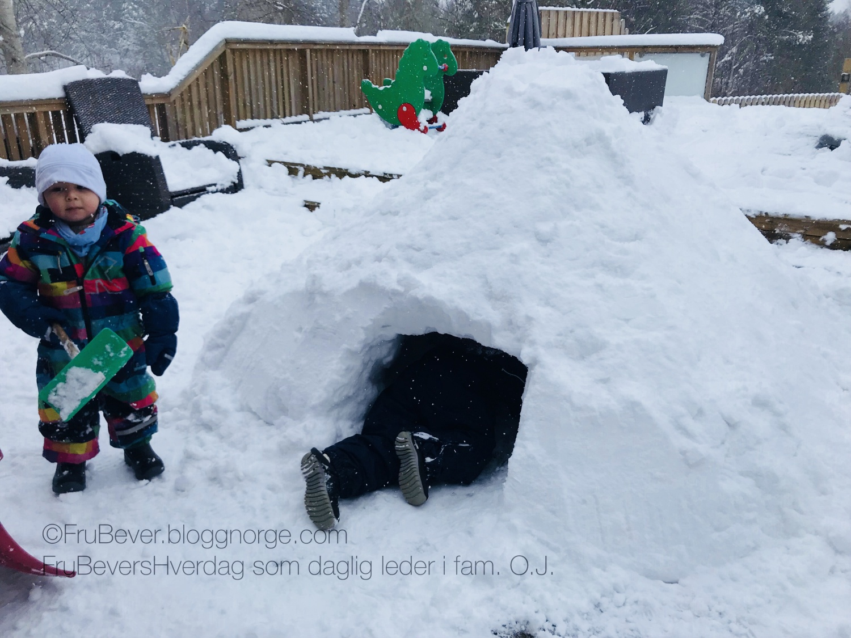 FruBeversHverdag snø // spark // uteaktivitet med barn