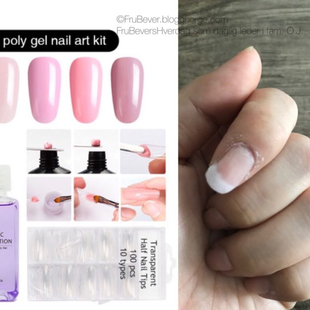 FruBeversHverdag DIY Poly gel nails