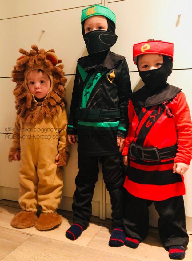 FruBeversHverdag Karneval // Ninjago og Løve barn
