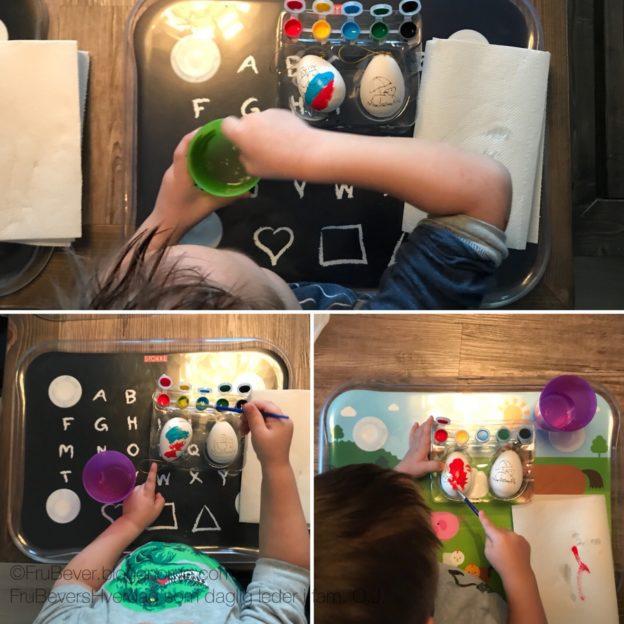 Frubevershverdag // påskeverksted DIY male på egg