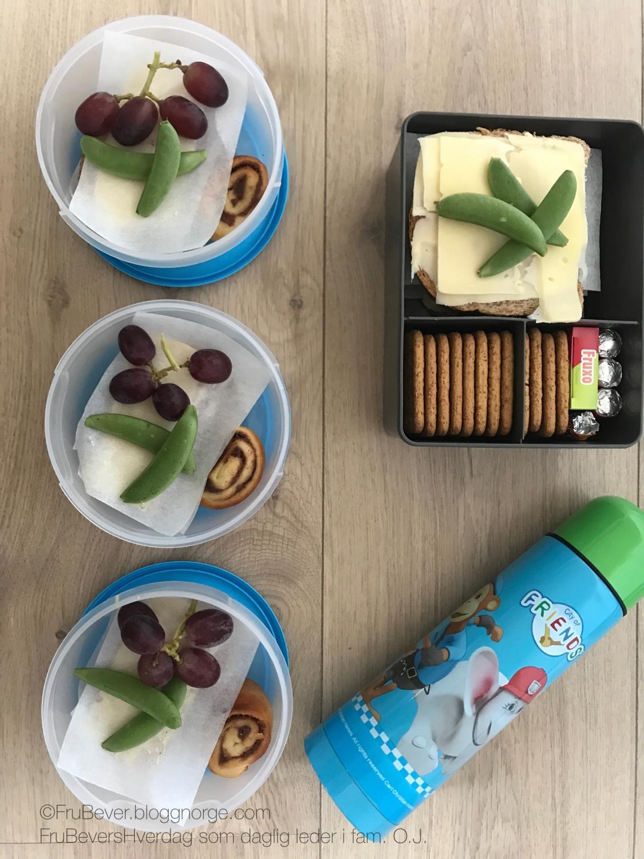Sunne, gode og fristende matpakker // FruBevershverdag