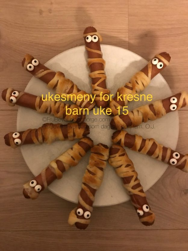 Frubevershverdag // Ukesmeny for kresne barn uke 15