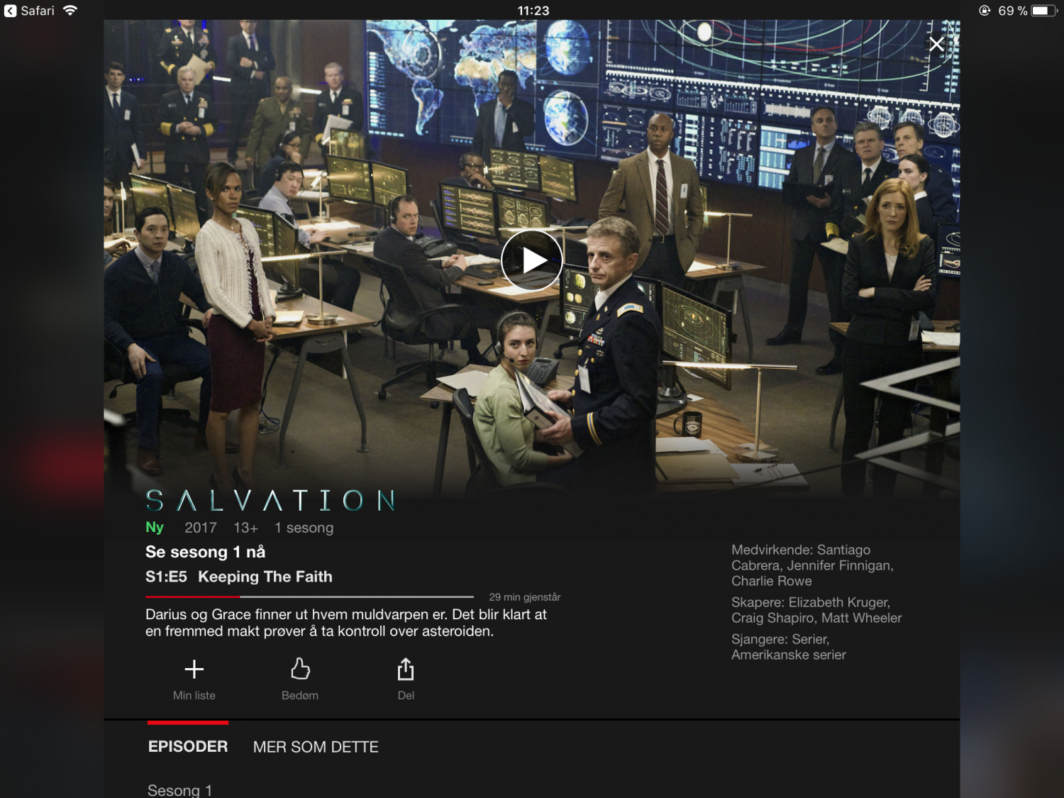 Serietips Netflix Salvation