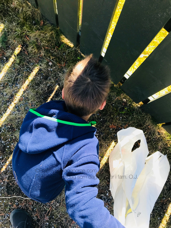 FruBeversHverdag // Miljøagentene plukk opp søppel