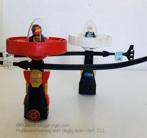 Lego Ninjago Spinjitzu Beyblade inntar huset @frubevershverdag