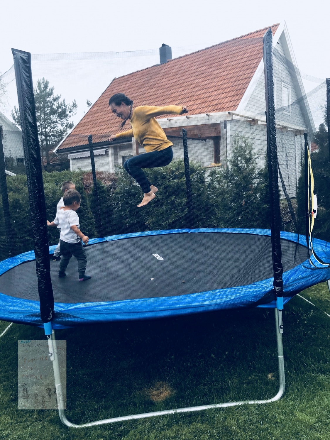 Trampoline for barn og mamma