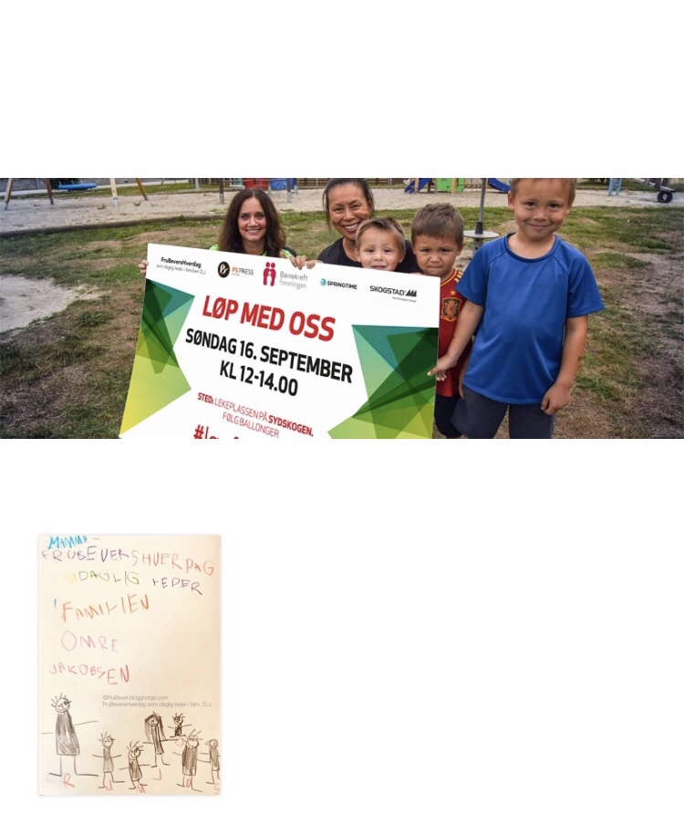 #løpformeg Barnekreftforeningen /Ps press / frubevershverdag