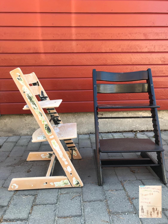 Prosjekt puss opp tripp trapp stol