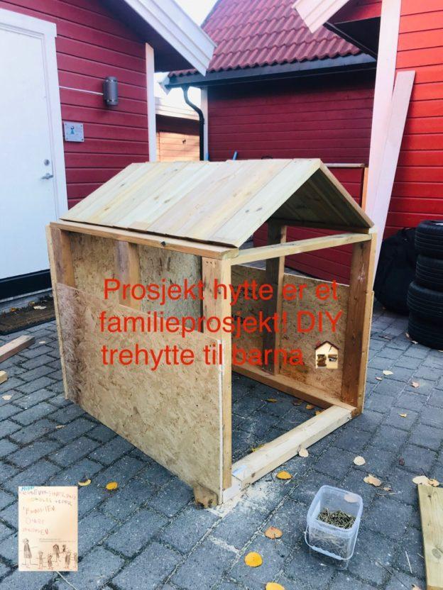 DIY trehytte barn // prosjekt trehytte @Frubever
