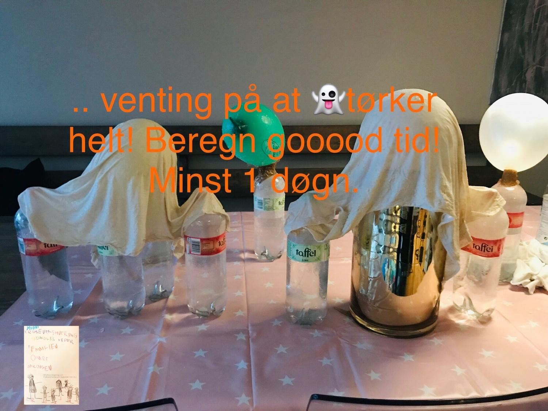 DIY svevende spøkelser til Halloween