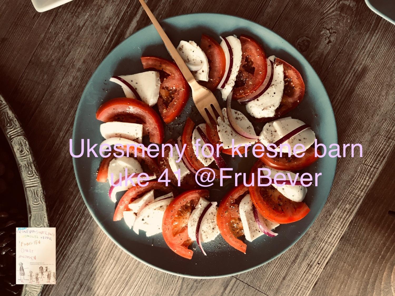 Frubever ukesmeny for kresne barn uke 41 middagstips