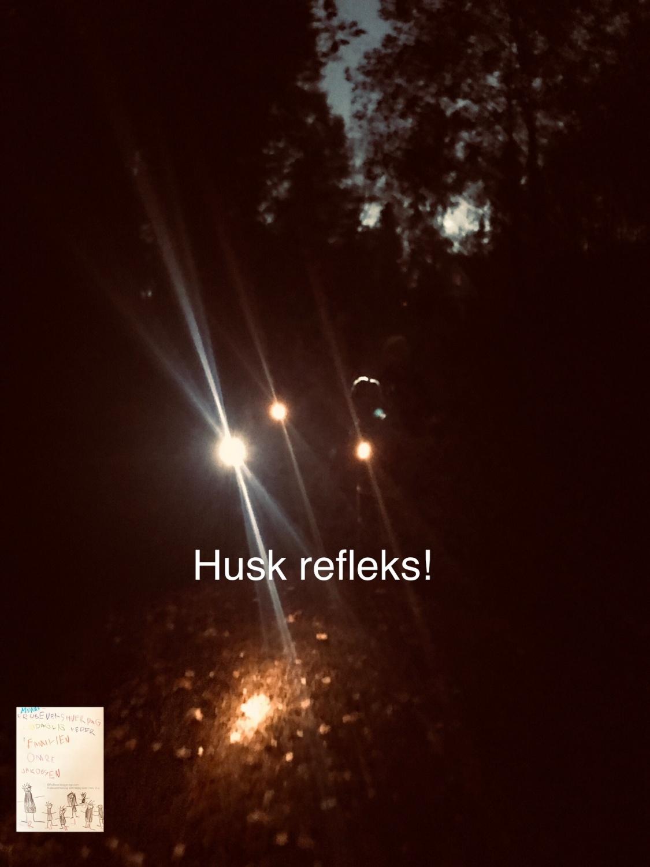 Lysløype med lommelykt og refleks