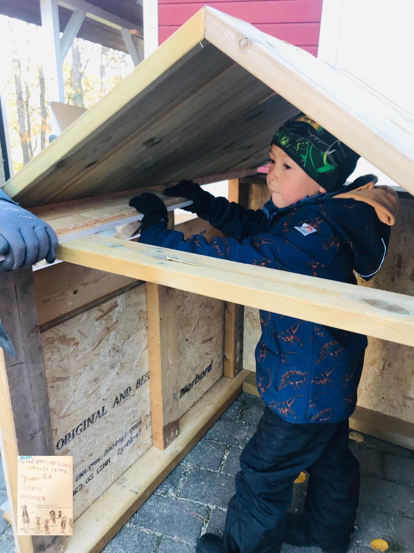 DIY // bygg hytte til barna