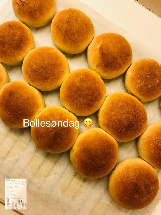 Bake off søndag // boller baking