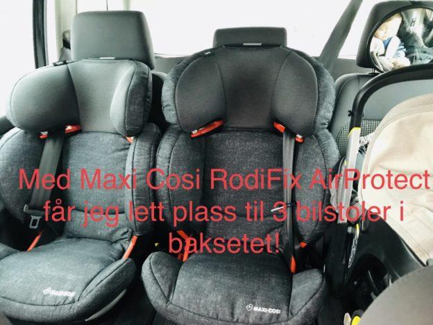 Maxi cosi rodifix airprotect // Mimmis 3 bilstoler i baksetet