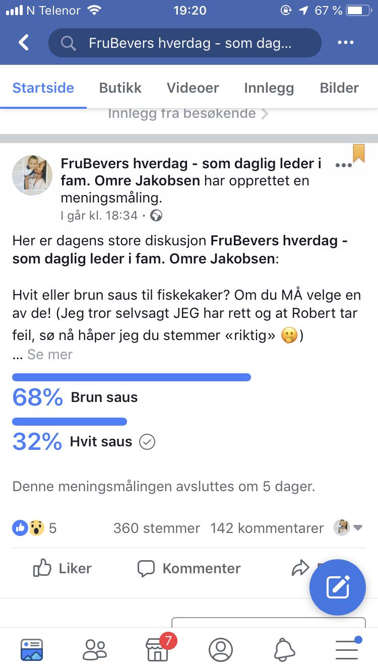 Saus valget 2018 // brun eller hvit saus til fiskekaker