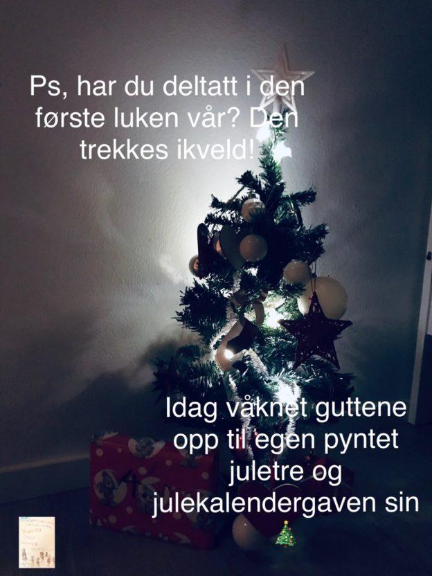 Juletre pynting // julekalender // mens vi venter på jul